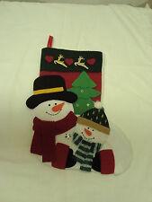 CHRISTMAS STOCKING*Large Size*Dlx 3D Snowmen*Snowman Pair*Reindeer*FREE SHIP*