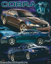 FORD MOTOR COMPANY MUSTANG COBRA PONY SPORTS CAR COUPE CONVERTIBLE 8 X 10 PHOTO