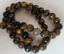 TIGER EYE BEADS 8mm Round - Full Strand ~ Natural Semi Precious Gemstone