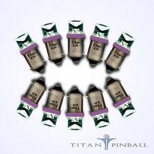(10 Pack) - 6.3 Volt LED Bulb Concave 44/47 Base (BA9S) Pinball - PURPLE