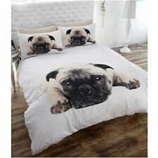 PUG PUPPY DOG DOUBLE DUVET COVER NEW BEDDING