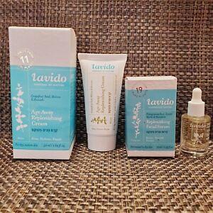 Lavido Age Away Replenishing Cream & Natural Replenishing Facial Serum.