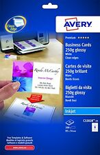 Avery C32028-25 Double Side Printable Business Cards with Glossy Finish, 250 gsm