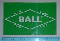 ADESIVO VINTAGE STICKER BALL RIMINI ANNI'80 KING SIZE 15x24 cm BELLO E RARO