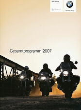 Prospekt BMW Motorräder 2007  F 650 GS 800 S HP2 K 1200 R LT R ST Adventure bike