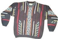 Le Tigre Coogi Style Pullover Knit Sweater Biggie Cosby L Multicolor VTG