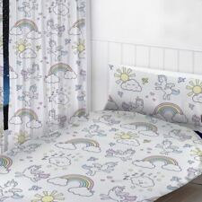 "PASTEL UNICORNS READYMADE CURTAINS CHILDRENS BEDROOM 72"" DROP"