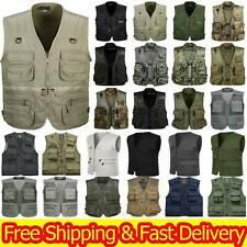 Multi-Pocket Vest Photography Hiking Utility Waistcoat Shooting Army Green