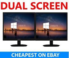 """2x 19"""" Cheap Monitor VGA TFT LCD Office Laptop Gaming Computer PC Dual Monitor A"""
