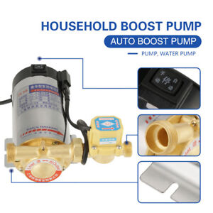 220V Automatic Household Booster Pump Boost Pressure and Circulate Water 100W oe