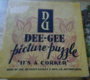 VTG DEE-GEE Picture Puzzle It's a Corker Cork GARDEN OF FLOWERS Complete 1930's