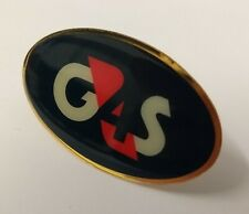 More details for genuine british made obsolete g4s security two prong issue hat badge asps88