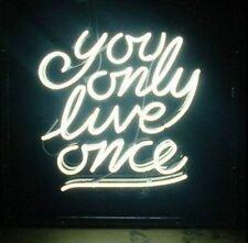 """New You Only Love Once Man Cave Beer Pub Bar Store Neon Sign 17""""x14"""" PU65S"""