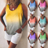 Women's Gradient Color Baggy Tops Blouse  Summer Holiday Beach Casual Tee Shirts