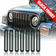 Honeycomb Mesh Front Grill Inserts for 1997-2006 Jeep Wrangler Tj Unlimited 7Pcs (Fits: Jeep)