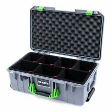 Silver and lime Green Pelican 1535 case with TrekPak dividers.