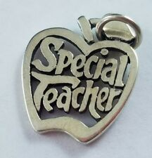 James Avery Special Teacher Apple Charm Sterling Silver Uncut Ring FREE SHIPPING