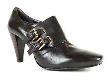 Nine West Women's Realistic Bootie Pumps DK Terra Brown Leather Size 9.5 (B, M)
