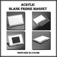 4 X JUMBO BLANK FRIDGE MAGNETS 89 x 59 mm - MAKE YOUR OWN - WHOLESALE