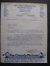 Movie Letterhead Fox Film 4/12/17 The Primitive Call Gladys Coburn Fritz Leiber