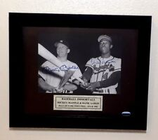 """MICKEY MANTLE & HANK AARON signed / autographed  5"""" x 7"""" Photo / Framed G130203"""