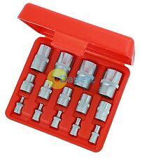 "14 piece E Torx Socket Set In a Storage Case Star Female Sockets 1/4"" 3/8"" 1/2"""