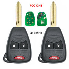 2xUncut Remote Key Fob 3Button 315MHz for 2006-2008 Dodge 1500 2500 3500 FCC OHT