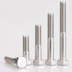 M6/8/10/12 Partial Thread Hex Hexagon DIN931 Screws Bolt A2 304 Stainless Steel