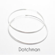 925 Sterling Silver Continuous Hoop Earrings 70MM 2 MM Thick