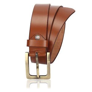 Personalised Mens Leather Belt | Tan Genuine Leather Belt, Antique Smart Buckle