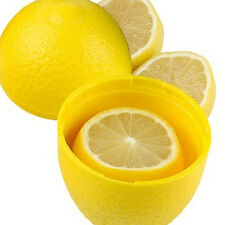 Good Reusable Lemon Keeper Plastic See Through Fresh Storage Container Saver*1
