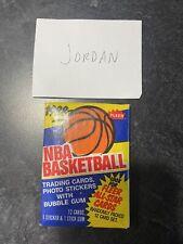 Fleer 1988-89 Basketball Unopened Wax Pack with Michael Jordan Sticker On Back