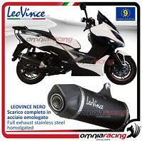 Leovince Nero Terminale scarico completo inox Kymco Xciting 400 i 2012>2016
