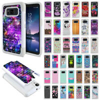 """For Samsung Galaxy S8 ACTIVE G892A 5.8"""" Bling Hybrid Rubber Silicone Case Cover"""