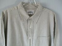 Aeropostale Men's Size Medium Striped Long Sleeve Button Front Shirt Pocket