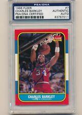 CHARLES BARKLEY SIGNED 1986 FLEER ROOKIE CARD PSA/DNA AUTO CENTERED