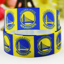 10 yards 22mm Golden state warriors sport team printed Grosgrain Ribbon party