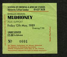 Original 1989 Mudhoney Concert Ticket Stub London Punk Grunge