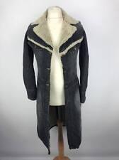 Vintage Lee Womens Denim Duster Sherpa Rider Jacket Coat Medium M Dark Wash