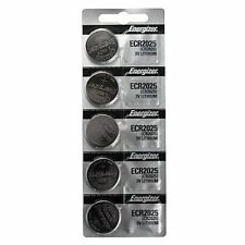 5 Energizer 2025 ECR2025 CR2025 3V Lithium Button Cell Batteries