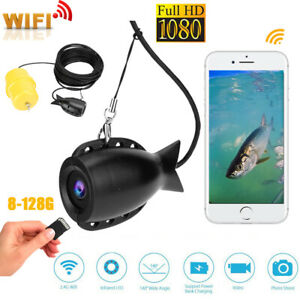 20M WIFI 1080P Underwater Fishing Device Visual Fish Finder 8‑128G 140° Camera