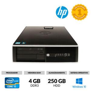 ORDENADOR SOBREMESA HP COMPAQ 8200 ELITE I5-2400 @ 3,10GHz 4GB 250GB WINDOWS 10