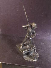 """Franklin Mint 1974 The Canal Boat Man Fine Pewter Box & Cert 7"""""""