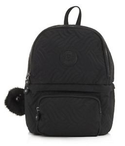 Kipling Sirod Premium Backpack, Cool Black Quilt, NEW