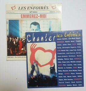 LES ENFOIRÉS ♦ LOT 2 CD SINGLE ♦ EMMENEZ-MOI + CHANTER