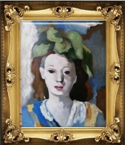 MARIE LAURENCIN oil on canvas painting signed & stamped NOT FRAME
