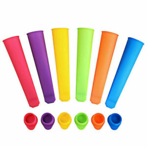 6pcs EXTRA LARGE ice lolly mould silicone push up ice cream frozen Maker Mould