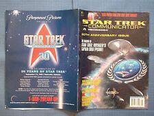 STAR TREK COMMUNICATOR MAGAZINE OFFICIAL FAN CLUB #108 1996 30TH ANNIVERSARY ISS