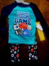 "Toddler Boys 2pc Pajamas, 5T, Long Sleeves/Long Pants, Snug Fit, ""Wake for Game"""