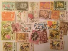 25 Different Malay States Stamp Collection - Trengganu